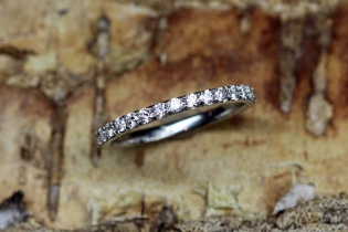 Micro Pave Eternity Band in Platinum