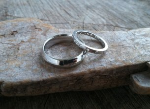 Slow Wave and Gypsy Set Band in Platinum and Diamond