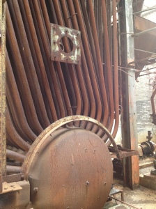 Interior Shot of the old boiler room at Mass Moca