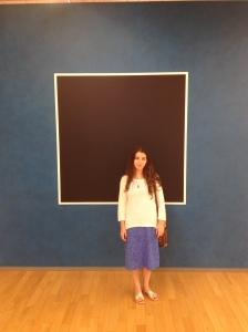 Me in front of a Sol LeWitt Mural
