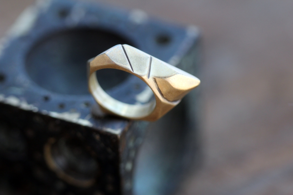 Vertex Ring Brass 2013, Wax Carving I