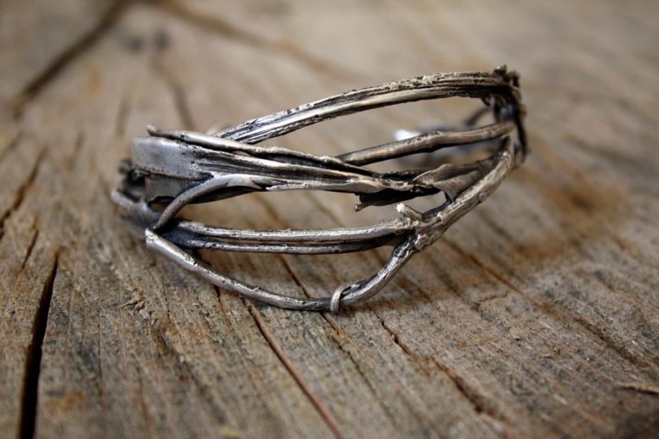 silver stalk bracelet