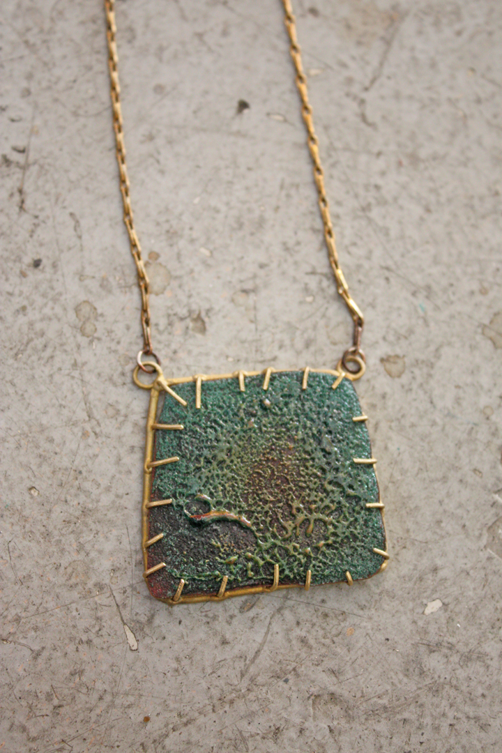 Sugar coat pendant by artists Emilie Shapiro, instructor