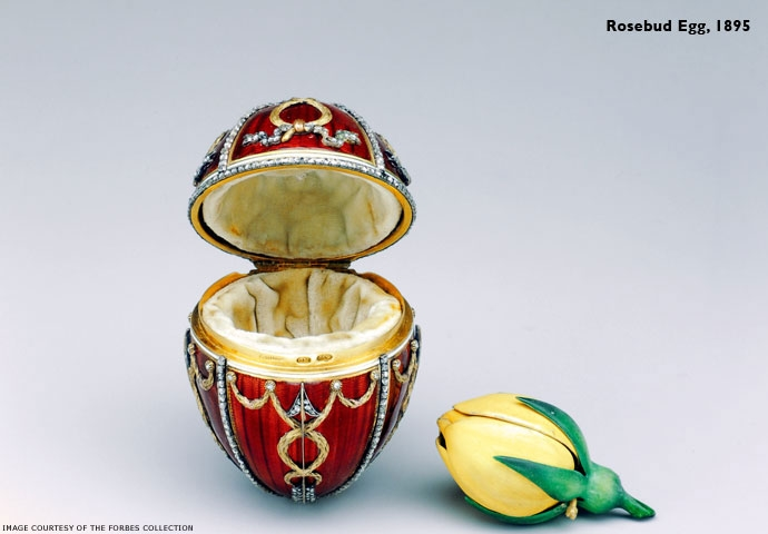 Rosebud Egg, 1895. photo credt: www.faberge.com