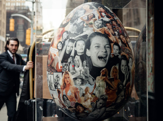 Big Egg by Vruce Webber, Kate Moss collage