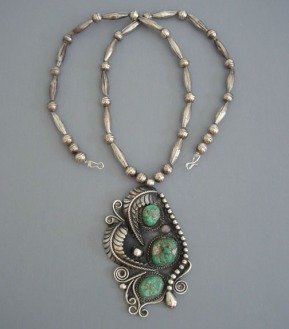 navajo necklace+pendant