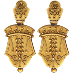 Ancient Etruscan Granulation Earrings
