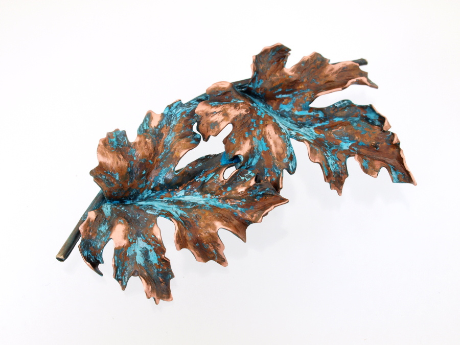 Beautiful Patina Leaves