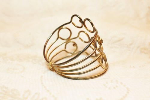 Vintage cuff with stunning loop-work.